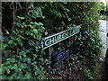 TG1319 : Church Lane sign by Adrian Cable