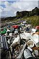 NG5211 : Plastic washed up west of Rubha na h-Easgainne by Andy Waddington