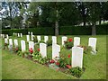 SX9493 : WW2 military graves, Exeter Higher Cemetery by David Smith
