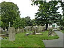 TQ6473 : In Gravesend Cemetery by Robin Webster