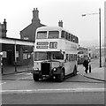SJ3288 : Wallasey Corporation bus 74 at Birkenhead Central Station – 1965 by Alan Murray-Rust