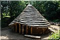 SJ5359 : Beeston Castle Bronze Age Roundhouse by Jeff Buck
