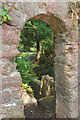 SX8963 : Doorway to steps, Cockington by Derek Harper
