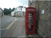 SO2956 : Telephone Box at Kington by Fabian Musto