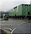 ST3188 : Double-decker bus leaving Friars Walk bus station, Newport by Jaggery