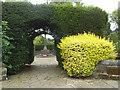 SE2736 : Headingley war memorial - green arch by Stephen Craven