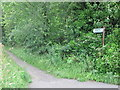 NZ2975 : Sign Near Holy Trinity Church, Seghill by Geoff Holland
