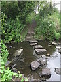 NZ2874 : Stepping Stones Across The Seaton Burn, Seghill by Geoff Holland