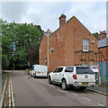 TL4656 : Marshall Road: building work and a stench pipe by John Sutton