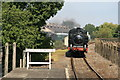 SU5290 : Didcot Railway Centre - train approaching by Chris Allen