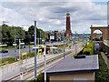 SJ7696 : Metrolink Trafford Park Line - Trafford Centre Terminus by David Dixon