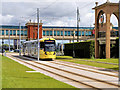 SJ7796 : Metrolink Tram at the Trafford Centre by David Dixon