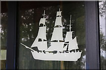 NS2209 : Ship at the Pagoda, Culzean Country Park by Billy McCrorie