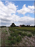 SK7045 : Church of St Helen, Kneeton in the distance by Ian Paterson