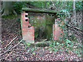 SE2507 : Disused sewage pumping station in Rons Cliff Wood, Cawthorne by Humphrey Bolton