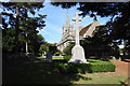 TL8518 : Kelvedon War Memorial and the church of St. Mary the Virgin by Adrian S Pye