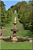 TQ6039 : Fountain and temple by N Chadwick
