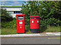 SO8757 : Post boxes, Wainwright Road, Worcester by Chris Allen