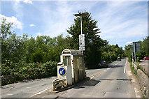 SP4408 : Non-operational tollbooth, Swinford Toll Bridge by David Kemp