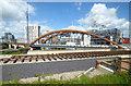SJ8297 : Orsall Chord railway bridge by Thomas Nugent