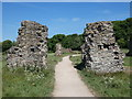 SK4318 : Path through the ruins of Grace Dieu Priory by Mat Fascione