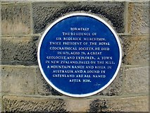 NZ0516 : Blue  plaque  on  the  front  of  21  Galgate by Martin Dawes