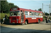 SK3454 : Road-rail bus at Crich, 1980 – 2 by Alan Murray-Rust