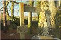 SX7884 : Signs, Moor Barton by Derek Harper