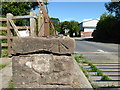NY3059 : Benchmark at Marsh Gate, Dykesfield by Adrian Taylor
