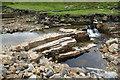 NY8238 : Ripple marks in mudstones, Burnhope Burn by Andy Waddington