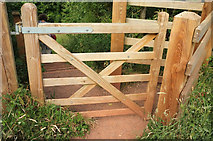 SX9591 : New gate, Ludwell Valley Park by Derek Harper