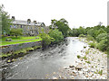 SD8164 : River Ribble downstream from Settle Bridge by Stephen Craven