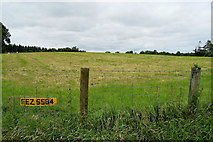 H4277 : Number plate in fence along Gortnagarn Road, Mountjoy Forest West by Kenneth  Allen
