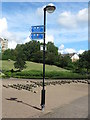 NZ3467 : Sign, Redburn Dene, North Shields by Geoff Holland