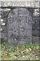 SE0137 : Parish boundary stone set into the south parapet of Sladen Bridge by Roger Templeman