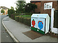 SE2535 : Utility cabinet painted with book characters, Broadlea Crescent by Stephen Craven