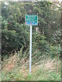 NZ2472 : Sign, East Wideopen by Geoff Holland