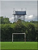 SE5613 : Recreation ground view to Askern Water Tower by Neil Theasby