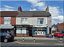 SE5613 : Businesses on Moss Road, Askern by Neil Theasby