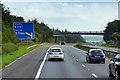 NS8563 : Eastbound M8, Forrest Road Bridge by David Dixon