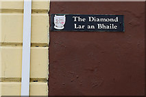 C2502 : Sign for The Diamond, Raphoe by Kenneth  Allen