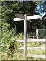 TG1018 : Marriott's Way Footpath sign by Adrian Cable