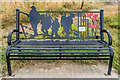 SO5074 : Memorial seat, Whitcliffe by Ian Capper