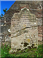 NS4937 : The grave of Covenanter Thomas Fleming by Mary and Angus Hogg