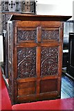 TM3464 : Rendham, St. Michael's Church: Prayer desk thought to be made of oak from the replaced c17th pulpit by Michael Garlick