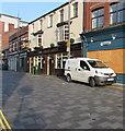 ST3188 : White van parked in Market Street, Newport by Jaggery