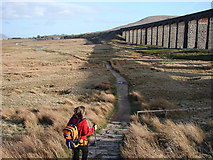 SD7579 : The path by Ribblehead Viaduct by John Lucas