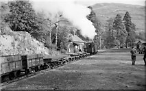 SH6441 : Engineering train passes through Tan y Bwlch Station by Martin Tester
