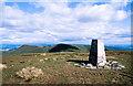NS2892 : Trig point of Beinn Chaorach by Trevor Littlewood