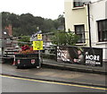 SO3700 : Fire Brigade recruiting banner, Bridge Street, Usk by Jaggery